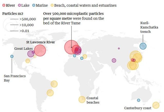 The River Tame, near Manchester, U.K., has the highest microplastic pollution yet discovered anywhere in the world.