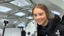 Greta Thunberg makes a statement about our carbon footprint in her zero-emission transatlantic sailing journey