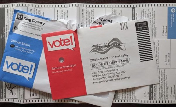Mail-in ballot for King County, Washington