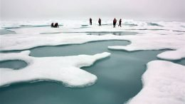 There was a lot more summertime sea ice in the Arctic in 2010, when scientists pictured above were there to collect ice and water samples. With less and less summertime sea ice, the Arctic absorbs more heat from the sun, which, growing evidence suggests, is altering weather patterns worldwide.