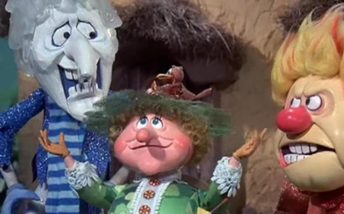"""Mother Nature attempts to ease tensions between rival siblings Snow Miser and Heat Miser in 1974's """"The Year Without a Santa Clause."""""""